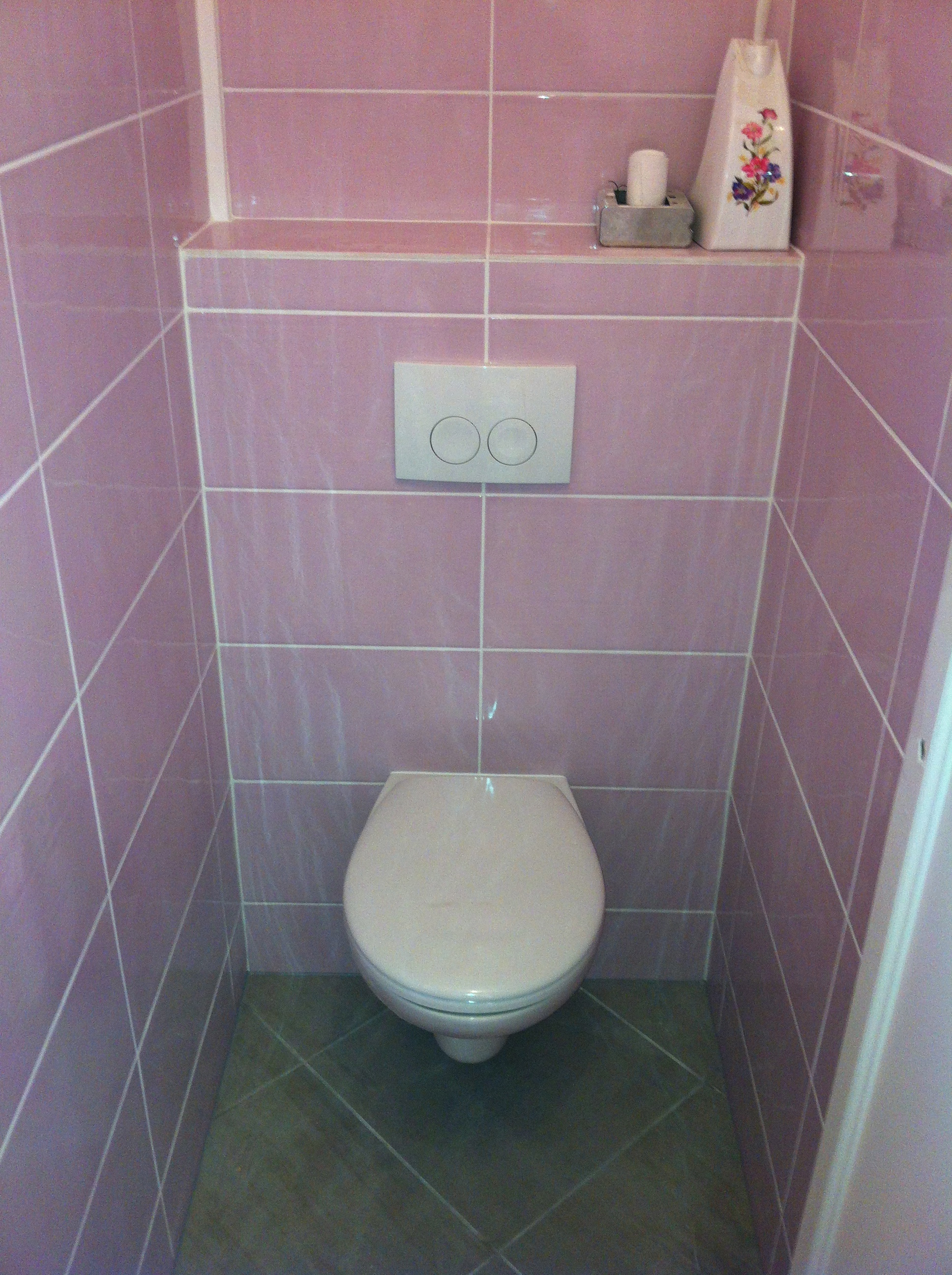 Wc suspendu wc encastr dream house - Peut on poser du carrelage sur un autre carrelage ...